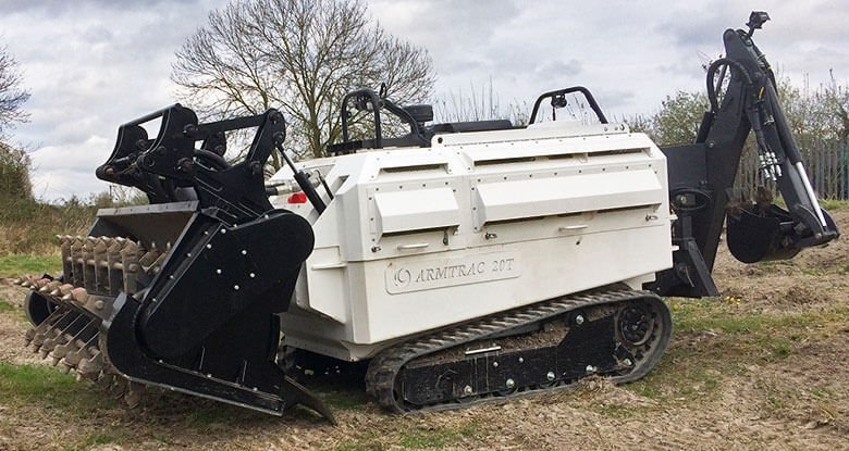 A20T Mk2 with Tiller and Backhoe/Robotic Arm