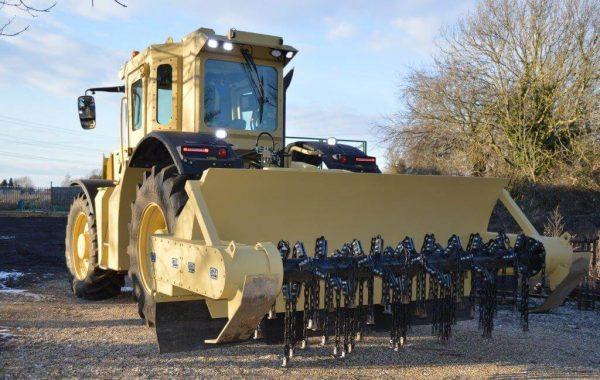A100-350 Mk2 (Rear view cw Demining Flail)
