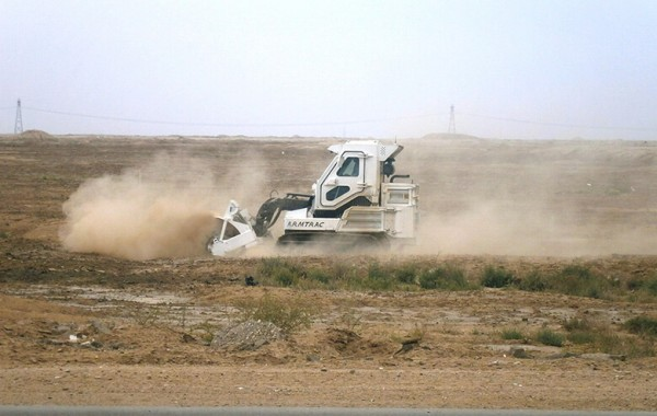 A75T in South Iraq on Humanitarian Demining Ops